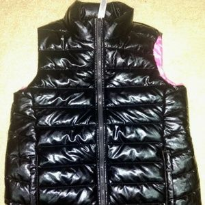 Ideology Girls Sz XL   Puffer Vest Black Shiny